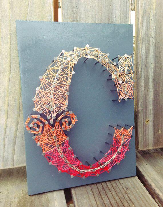 Letter C Typography String Art - Custom Letters