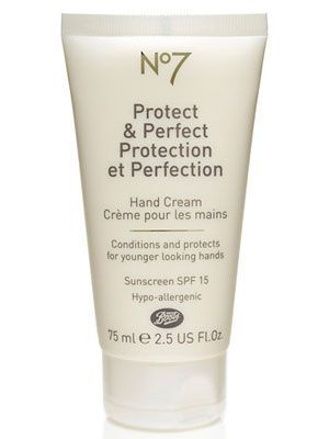 Best Hand Cream with SPF 15+: Honorable Mention - Boots No7 Protect & Perfect Hand Cream SPF 15, $14