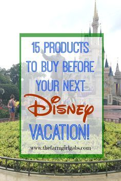15 Products to buy before your next Walt Disney World vacation. /search/?q=%23DisneySide&rs=hashtag