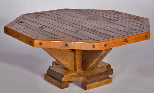 17 best images about wood tables floors other things for Octagon coffee table plans