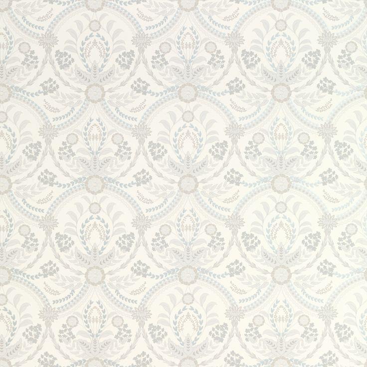 Almeida Seaspray Blue Patterned Wallpaper