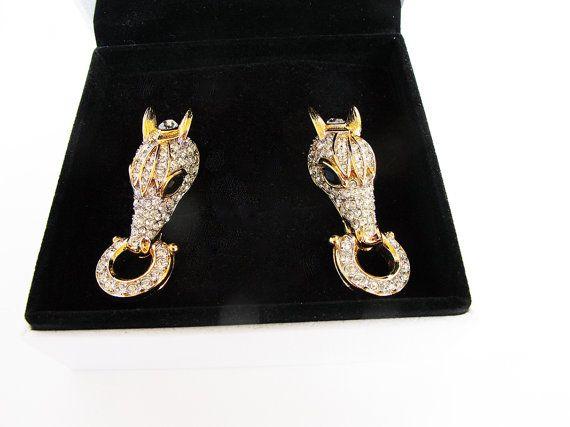 1940s 40s rare earrings Nina Ricci Nina Ricci by AlbertsAttic
