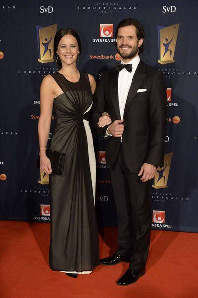 Prince Carl Philip and Sofia Hellqvist are attending the Swedish Sports Awards Gala in Stockholm this evening