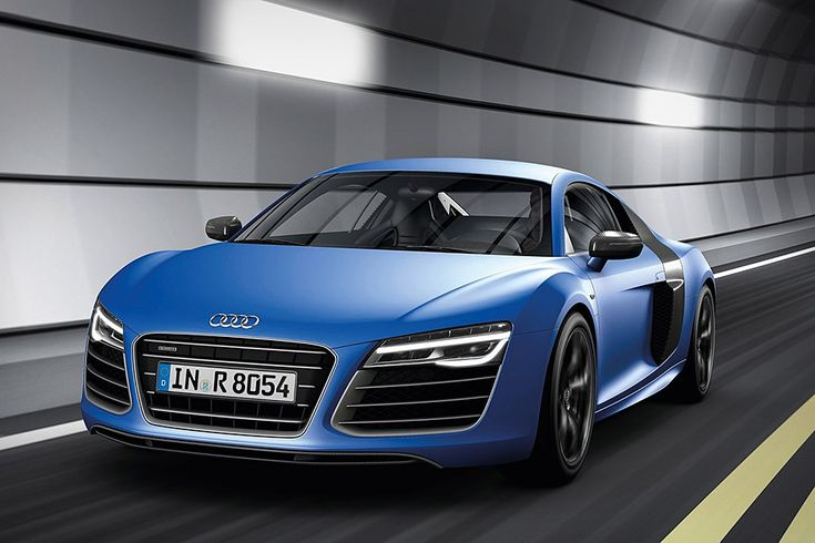 Audi R8 V10 Plus--Powered by a 550hp V10 that pairs with the all-new 7-speed S tronic transmission to bolt the coupe from 0-62 in just 3.5 seconds on its way to 197 mph