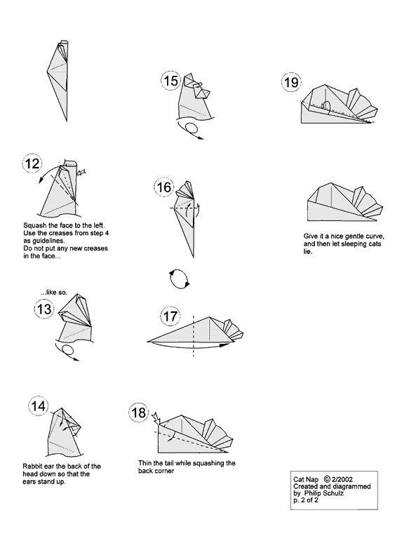 mas cosas divertidas  origami gato halloween con diagramas