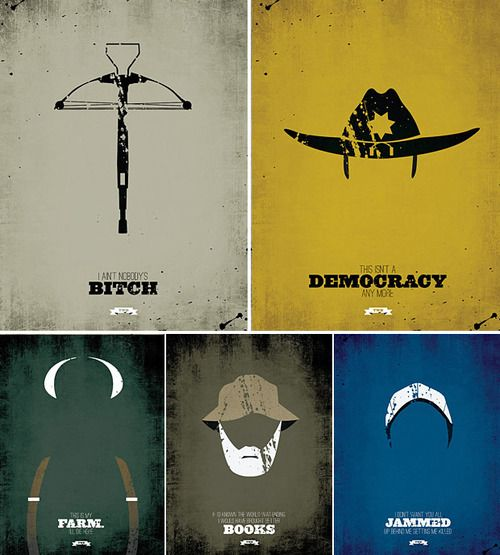 Cool design of symbols representing The Walking Dead characters!