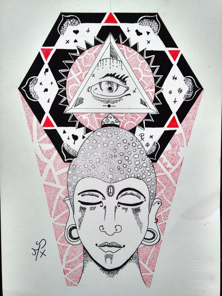 #dotwork #drawing #tattoo #Black&Red