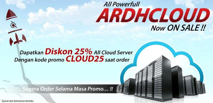Dapatkan Discount 25% untuk semua Elastic Cloud Server atau Flexible Cloud Server di Ardhosting hanya dengan menggunakan kode promo CLOUD25 saat order. Segera order sebanyak-banyaknya selama masa promo !!! Indo selengkapnya di http://goo.gl/AoOBWl. #promovps #vpsmurah #cloudserver #cloudvps #cloudmurah #onlineshop #bisnishosting #hostingmurah #webhosting
