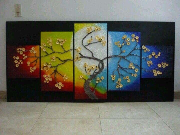 Cuadro arbol de flores