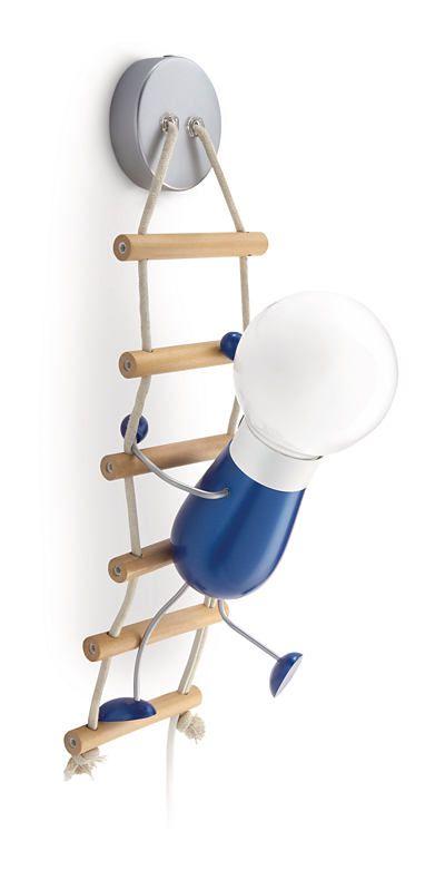 Climbo - lampada da parete bambino