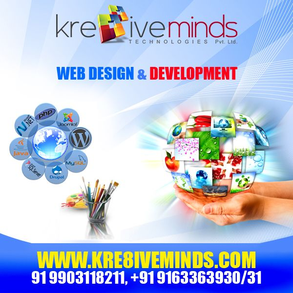 Innovate your business! Get a creative #webdesign and #customized #webdevelopment for your business. Go global, get Kre8ive! http://www.kre8iveminds.com/
