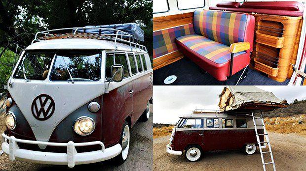 Isto parece uma Kombi velha, mas na verdade é um restomod com motor de Jetta perfeito para camping