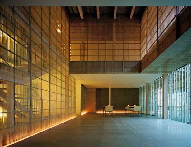 An interior by Japanese architect Kengo Kumo is perhaps a spiritual descendent of the great Katsura Villa in Kyoto, Japan.