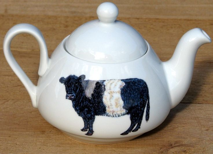 Highland and Belted Galloway Cows medium size teapot by Richard Bramble