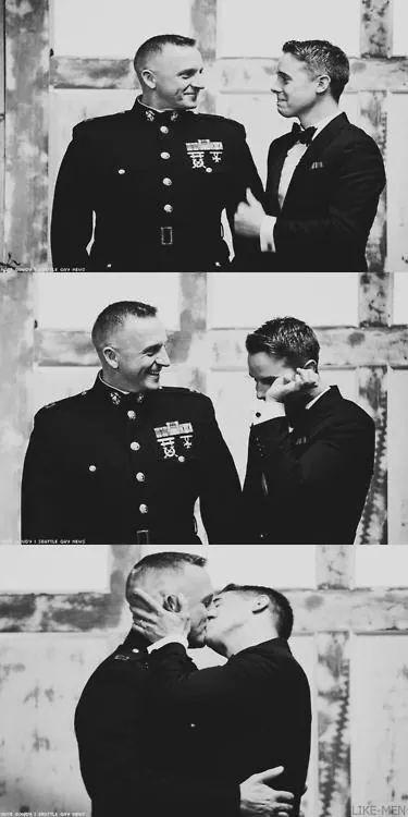 Military love......