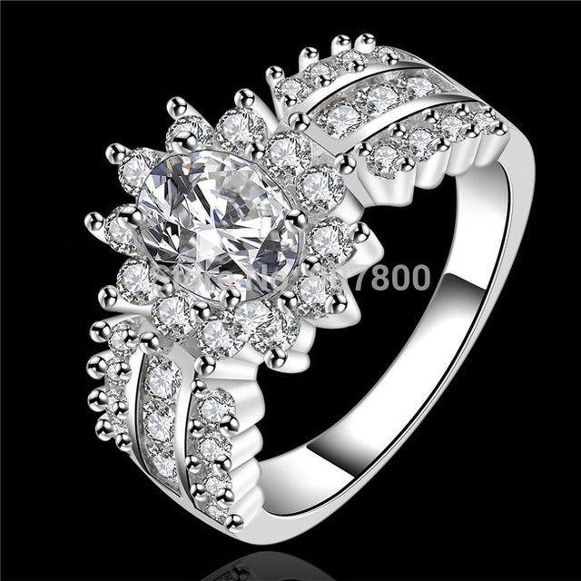 R584 роскошный дизайн серебряная свадьба/обручальное кольцо с Циркон Ювелирные Изделия красивый подарок