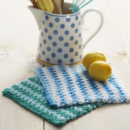 This delightful crochet dishcloth is made using the Lily Sugar 'n Cream yarn range. It's simple and practical. Perfect.