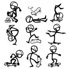 stock-illustration-12779151-stick-rysunek-osób-jazda-na-deskorolce.jpg (235×234)