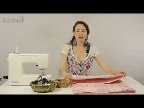 Výbavička pro miminko - návody na šití - díl 3. - YouTube