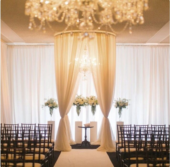 Glamorous Indoor Ceremony Backdrop
