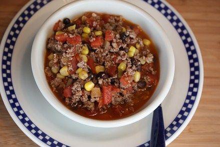 Southwest Ground Beef Stew from Lynn's Kitchen Adventures