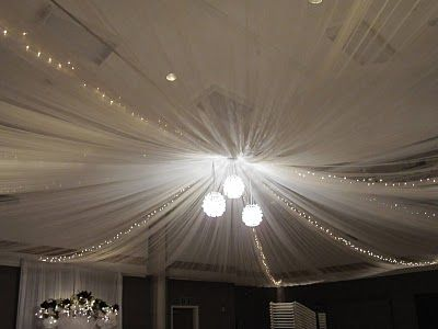 ceiling drape a church gym to hide ceiling