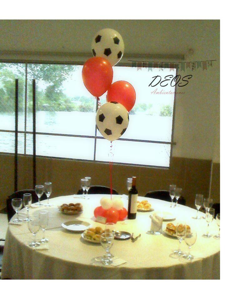 10 best ambientaciones infantiles atletico de madrid para - Centros de mesa con globos ...