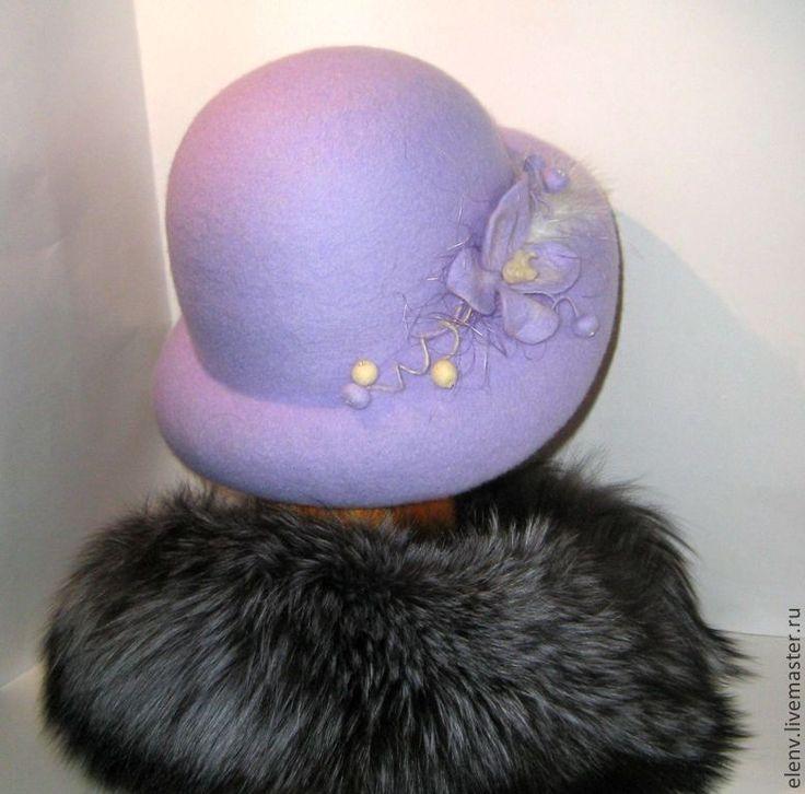 Купить Шляпа валяная Ускользающая красота - шляпа, шляпка женская, шляпа с полями, шляпка с цветком