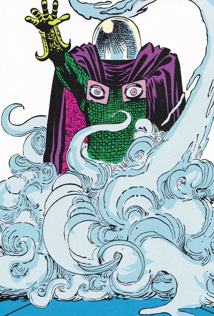 Mysterio by Steve Ditko. The way this is drawn has a lot of character :)