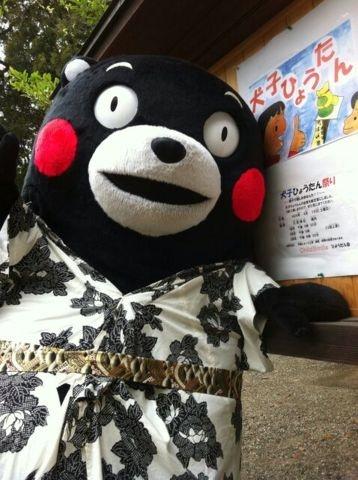 Kumamon is ready for the summer festivals.
