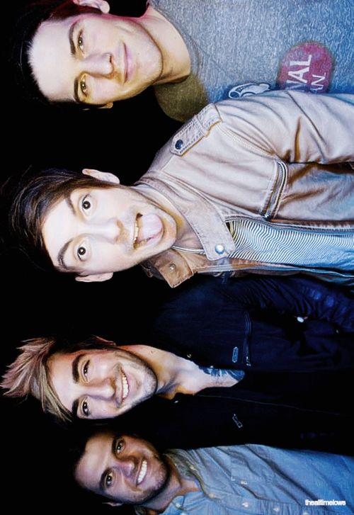 All Time Low • Pose. I love how this isn't a typical 'macho' shot. Shows they are real people and can be goofy.