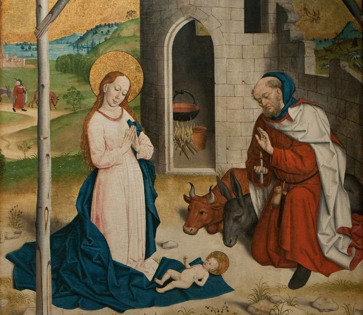 Nativity (15th c. Circle of the Master of St Geroge, Pushkin Museum, Moscow)
