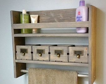 Farmhouse Display Shelf Towel Bar Coat Rack Up par TheSavvyShopper1