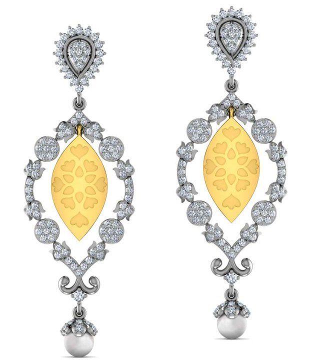 Caratlane Ewer Drop 18 Kt Certified, Real Diamond