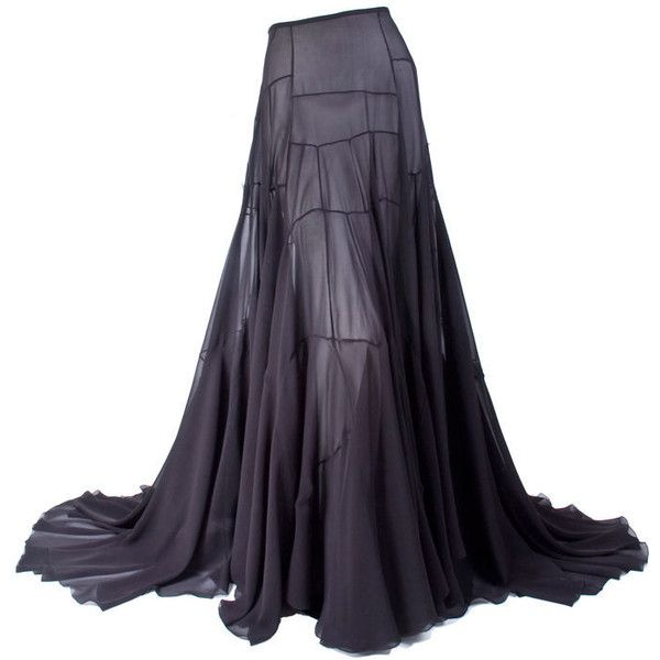 Vionnet - Vionnet Black Silk Evening Skirt and other apparel, accessories and trends. Browse and shop related looks.