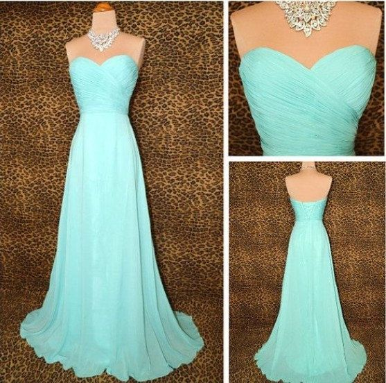 With a skinny bling belt this would be beautiful...Aline Long Bridesmaids Dress Chiffon by DreamBridalStudio on Etsy, $79.99