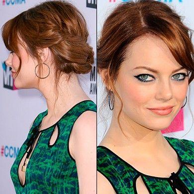 emma stone updo hairstyles   Emma Stone - Up Do Hairstyles - Hair Updos   InStyle UK