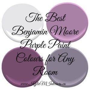 The best most popular benjamin moore purple paint colours for any room in your home. This decorating blog highlites some of the best Ben Moore paint colours