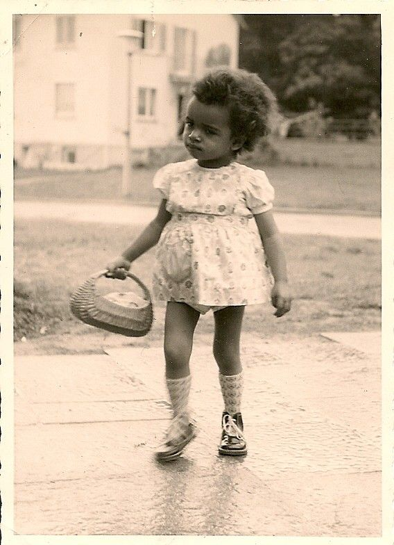 african americans in 1940's | 1940's photo .Little African American girl holding by TobyCreek