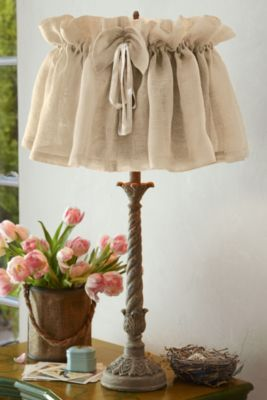 Vintage Linen Lampshade Cover - Lamp Shade Covers, Linen Lampshade | Soft Surroundings