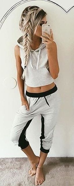 Bella Sleeveless Hoodie + Kylie Sport Pants | SaboSkirt                                                                             Source