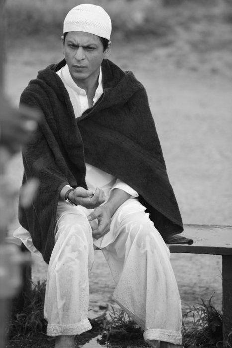 Shahrukh Khan on the set My Name is Khan (2010)