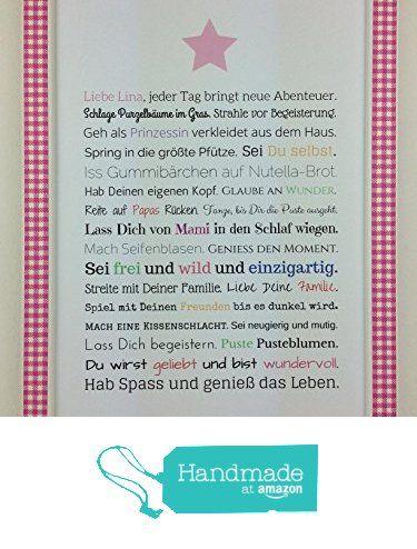 Personalisiertes Geschenk für Baby oder Neugeborene - Geschenkidee z.B. als Gastgeschenk zur Geburt oder Geburtstag | Bild für Mädchen von der Frau Soth https://www.amazon.de/dp/B01M0TPQWK/ref=hnd_sw_r_pi_awdo_2-sSybZT5AXPD #handmadeatamazon
