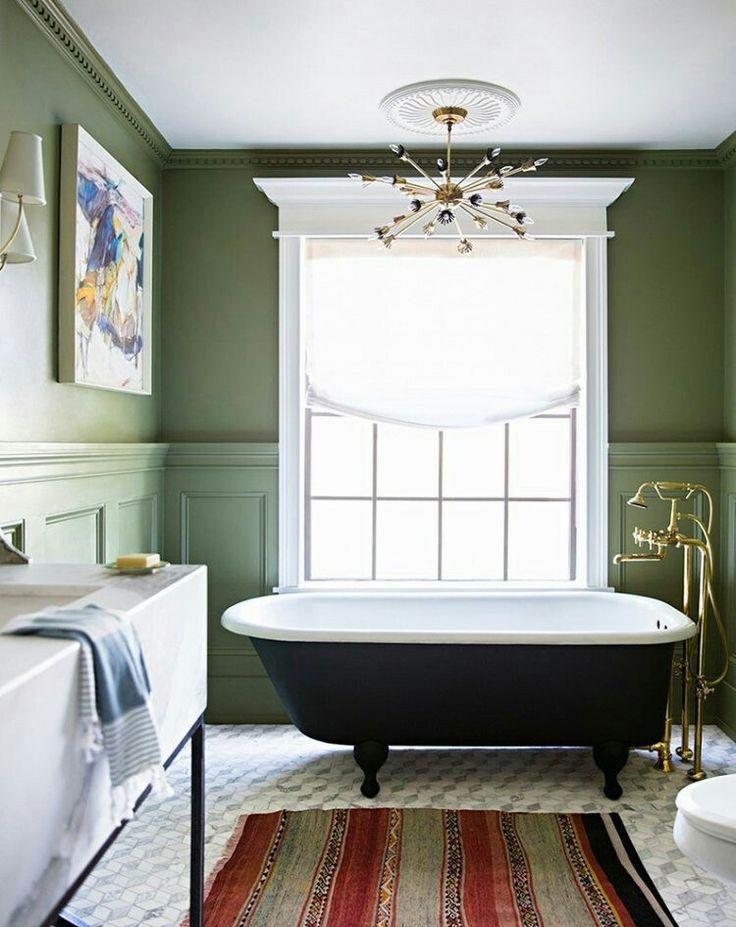42 besten déco couleur vert kaki bilder auf pinterest - Badezimmer Olivgrn
