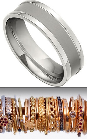 wedding bands for him & her