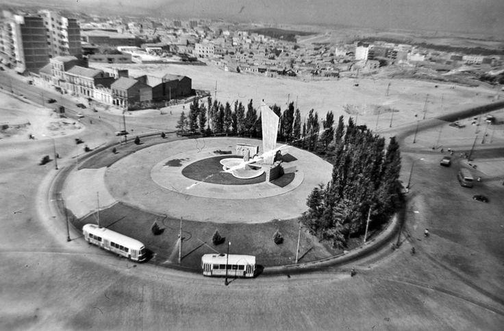 Plaza de Castilla. 1962. foto de Santos Yubero
