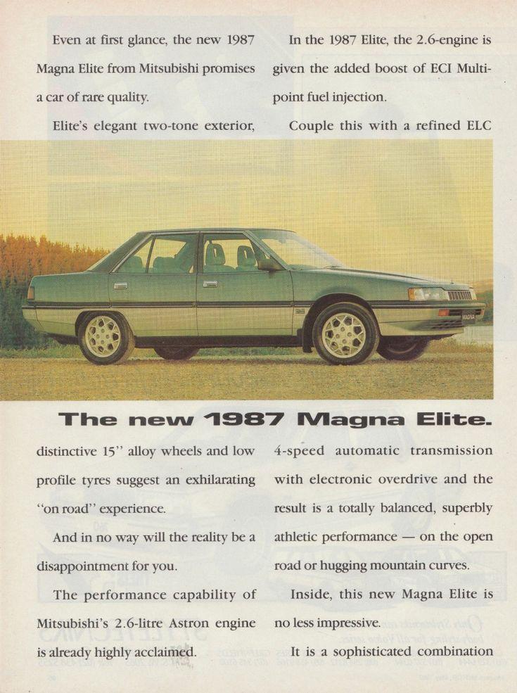 1987 mitsubishi magna elite 1