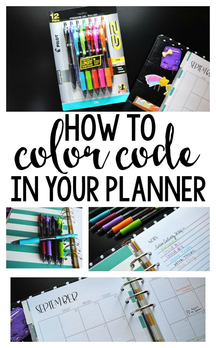 How to color code in your planner- such a fun, functional, easy way to get organized! #PilotYourLife #ad