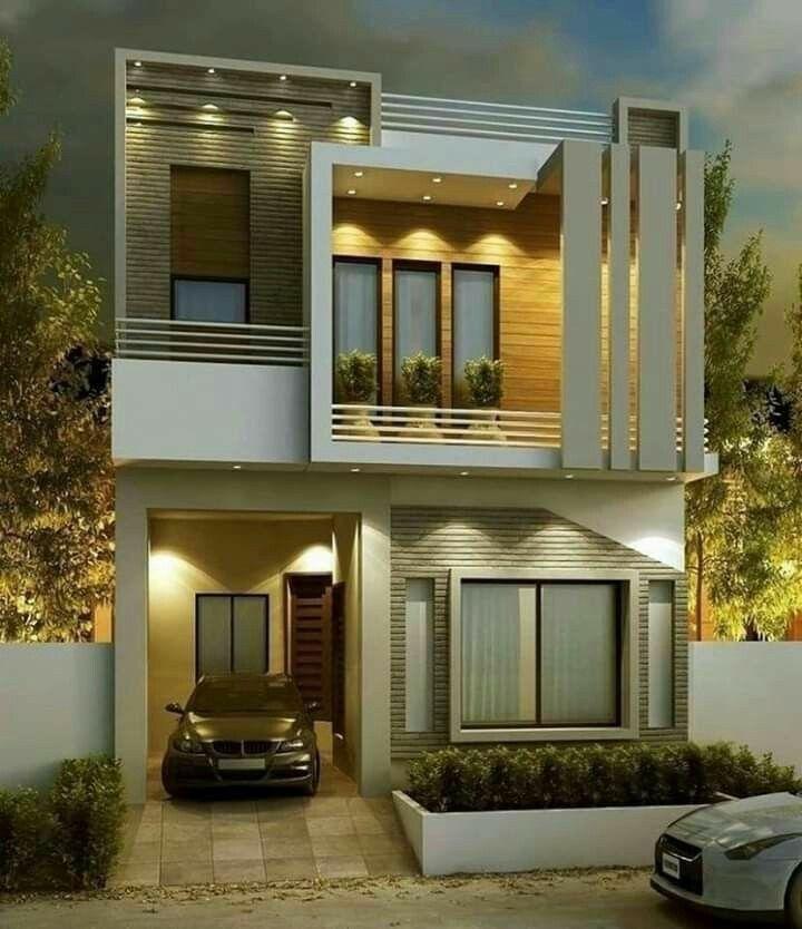 تصميم مودرن 3 غرف نوم ارضي و اول الارض 13 14 متر Architecture House House Styles Design
