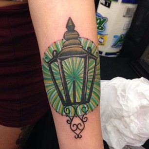 "29 Breathtaking Tattoos Inspired By Books-""The green light from The Great Gatsby by F. Scott Fitzgerald."" —cristinan4f2d2ff82"